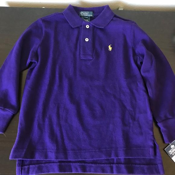 012bacd8b NWT  39 Boys 3T Ralph Lauren Purple Polo Shirt